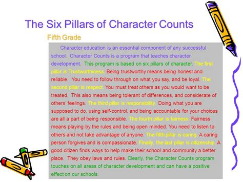 Six Pillars Of Character Essay by Six Pillars Of Character Essay Pillars Of Character Posters Clipart Angelena Character