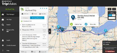 trip creator map maps mania the rand mcnally trip planner