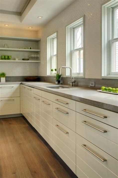 How To Clean Kitchen Countertops Concrete Countertop Beautiful Clean Kitchen Like It As A Backsplash Wall Also House