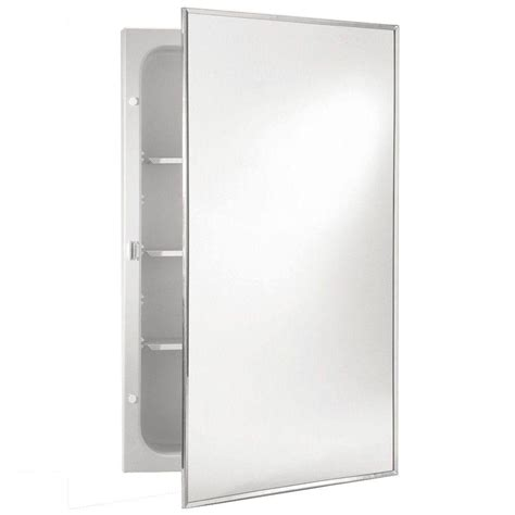 16 x 20 recessed medicine cabinet styleline 16 in w x 20 in h x 3 75 in d recessed