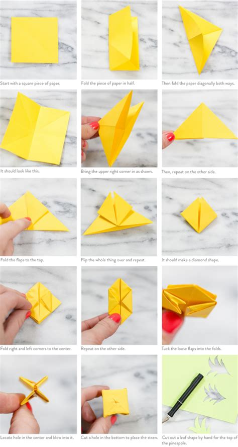 Origami Step By Step - summer trend pineapple print rabbit food for my bunny teeth