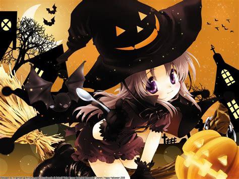 anime girl halloween wallpaper cute anime halloween wallpapers