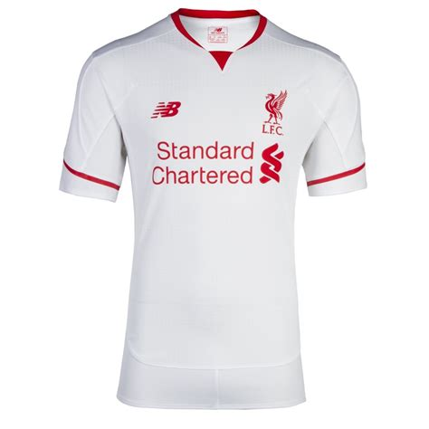 Secondhand Jersey Liverpool Second Retro All White Liverpool Launch Brand New Away Kit For 2015 16