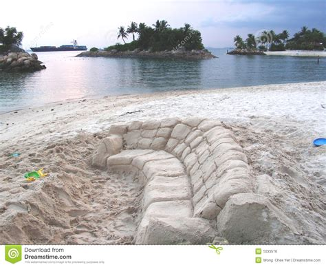 sand couch sand couch at beach royalty free stock image image 1033576