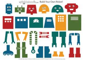 build your own robot free printable picklebums