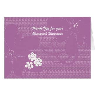 memorial donation card template bereavement thank you notes cards bereavement thank you