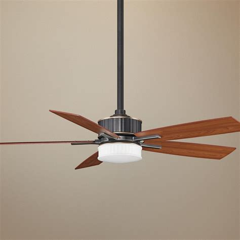 Ceiling Fan Led Light Kit by 60 Quot Fanimation Landan Bronze Ceiling Fan With Led Light Kit