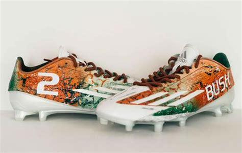 custom football shoes miami hurricanes to wear custom cleats vs nebraska