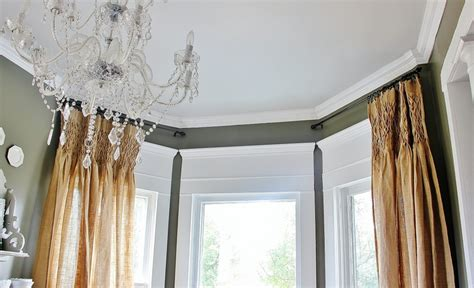 crown molding window treatments what about that space the window thistlewood farm