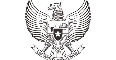 logo pancasila hitam putih vector cdr png hd gudril