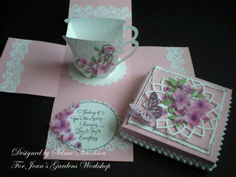 explosion love box tutorial selma s sting corner and floral designs tea cup