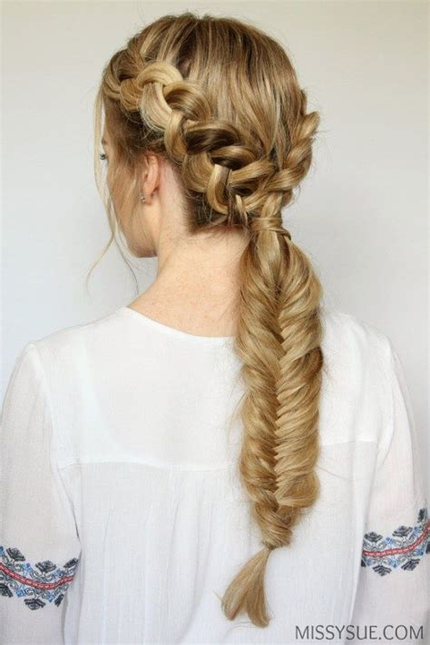 5 double fishtail braids braid love pinterest teen 1313 best images about hairstyles i love complex braiding