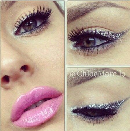 keke wyatt glitter pink lips glitter eyeliner and pink lip makeup makeup beauty