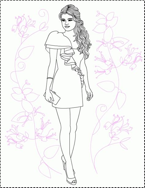 selena gomez coloring pages coloringpagesabc com