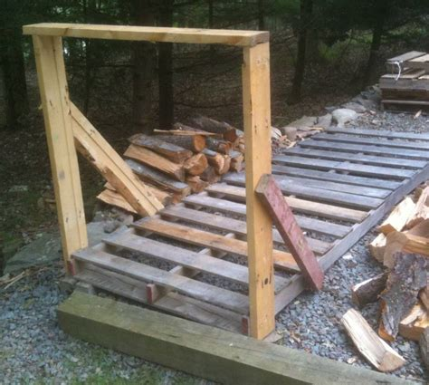 Building A Firewood Rack by How To Build Your Own Cheap Or Free Firewood Racks Diy Barrett Township Pa Of