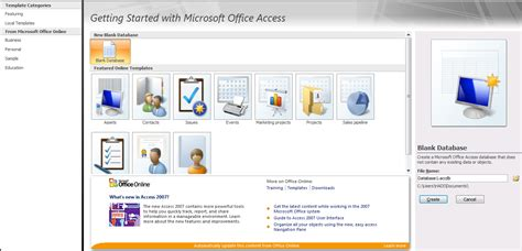 membuat database microsoft access 2007 membuat database dan tabel ms access 2007 sarang hadi
