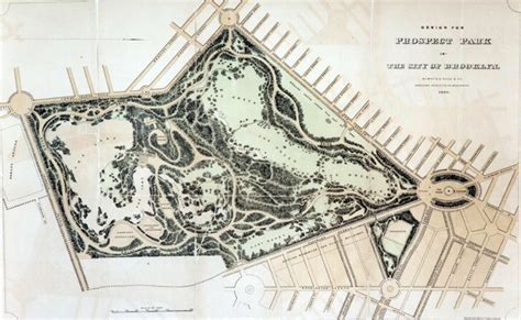 19th Century Floor Plans olmsted designed parks nyc parks
