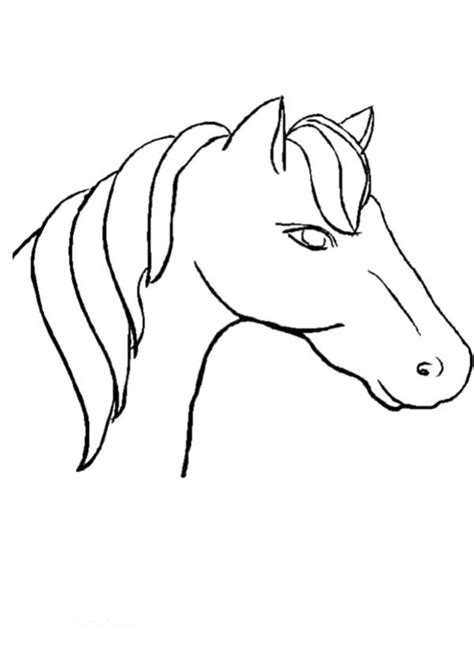 coloring pages of horses heads horse head coloring pages coloring home