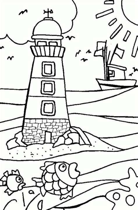beach house coloring pages lighthouse coloring page coloring home