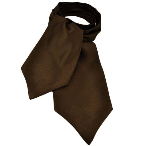 plain brown ribbed self tie casual day cravat from ties