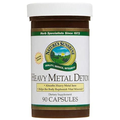 Detox Nickel Allergy by Heavy Metal Detox 90 Capsules Buy Return2health