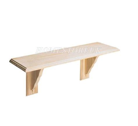 Wall Shelf Kit by 580mm X 190mm 1 X Wood Wooden Pine Wall Mounted Shelf Kit