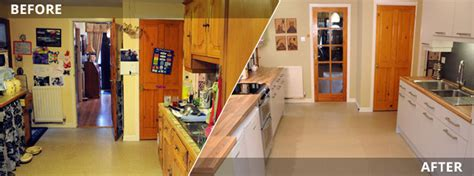 Replacing Kitchen Cabinet Doors Before And After Cost Effective Kitchen Makeovers Kitchen Door Replacement