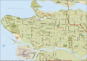 Map of vancouver british columbia map