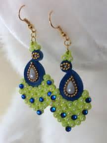 Handmade Paper Quilling Earrings - handmade paper quilled jhumkas quilled earrings paper