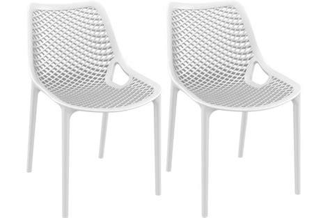 lot de 2 chaises design blanches max chaise design pas cher