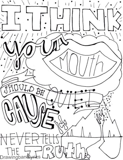 coloring book lyrics social casualty 5 seconds of summer 5sos coloring pages