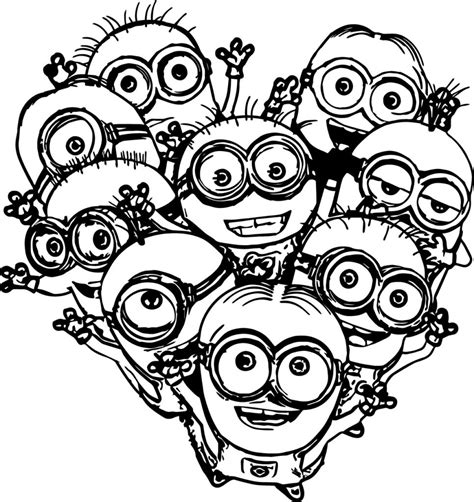 Coloring Pages For Adults Minions | coloring pages multiple minions coloring pages