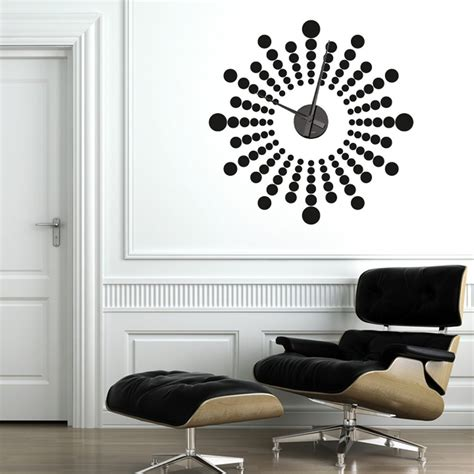 Wall Sticker Clocks futuristic wall sticker clock wall chimp uk