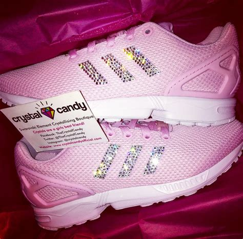 crystal adidas flux  hot pink crystal candy limited