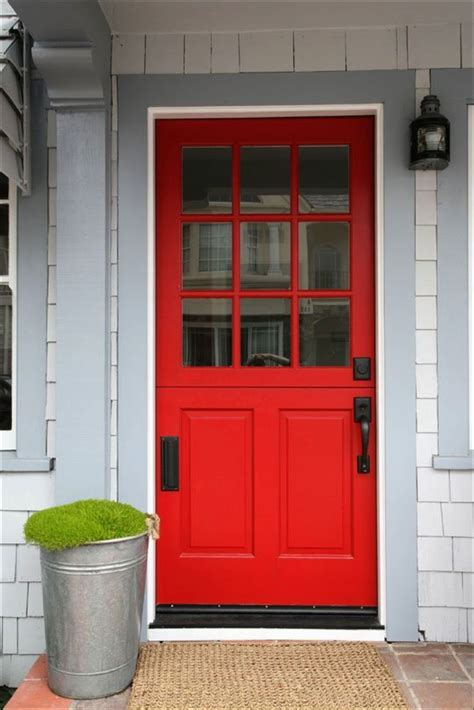 red door front entry doors that make a strong first impression