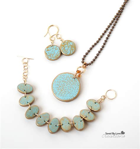 Easy Silkscreen Polymer Clay Jewelry Tutorial Scupleyprojects
