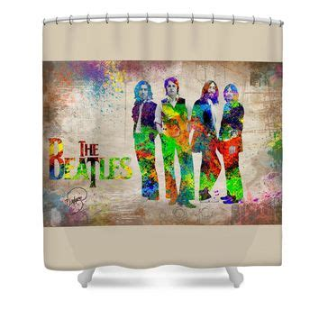 beatles shower curtain the beatles shower curtain from fine art america
