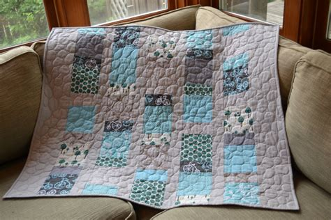 Grey Quilt by Modern Baby Quilt Grey And Aqua