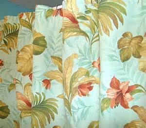Tropical Print Curtains Fabric Shower Curtain Aqua Tropical Print Flickr Photo