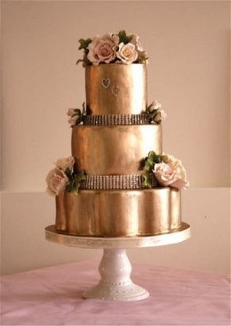 Golden Wedding Cakes by And Gold Wedding Inspiration By Linentablecloth