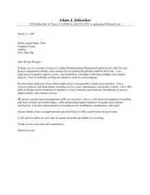 Manufacturing Cover Letter Sle by Manufacturing Executive Cover Letter Essays For Mba