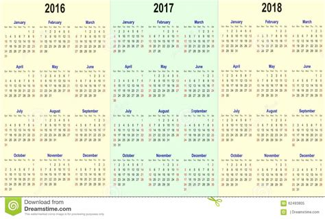 Calendã Setembro 2018 Vector Calender Template 2016 2017 2018 Stock Vector