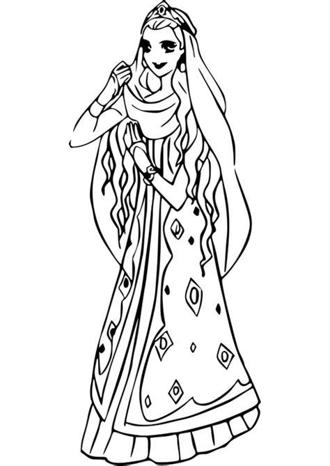 coloriage princesse arielle