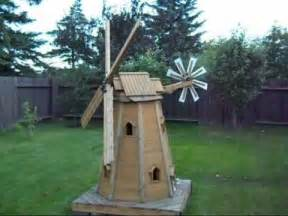 Decorative Backyard Windmill Wooden Homemade Garden Windmill By Laszlo Youtube