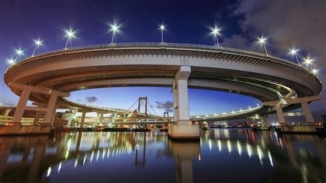 rainbow bridge tokyo japan wallpapers hd wallpapers id