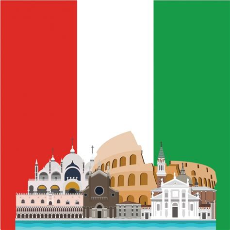 Italien Design by Italy Background Design Vector Free
