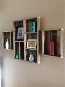 Wooden Box Wall Shelves Pallet Wall Shelves Ideas 101 Pallets