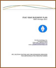5 Page Business Plan Template by 4 Cover Page Of Business Plan Quote Templates