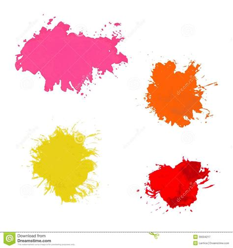 paint splash vector set of brush strokes stock vector image 39504217