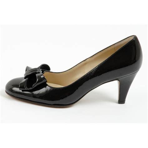 patent shoes kaiser phillis brown patent court shoes mid heel